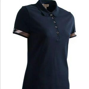 Auth Burberry Brit Blk nova check polo shirt top
